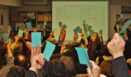 Vote lors de l'AG de Bizi