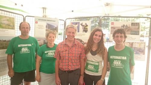 Avec le maire d'Ungersheim
