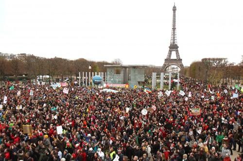 la foule au champ de mars