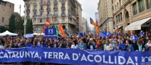 Manif pro-migrants Catalogne terre d'accueil