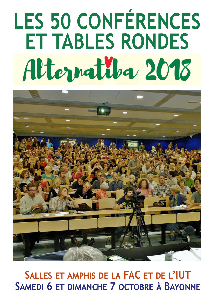 Les 50 conférences d'Alternatiba 2018