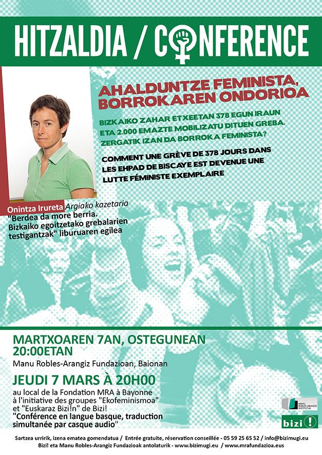 2019-03-07-HITZALDI-CONF-AhalduntzeFeministaBorrokarenOndorioa