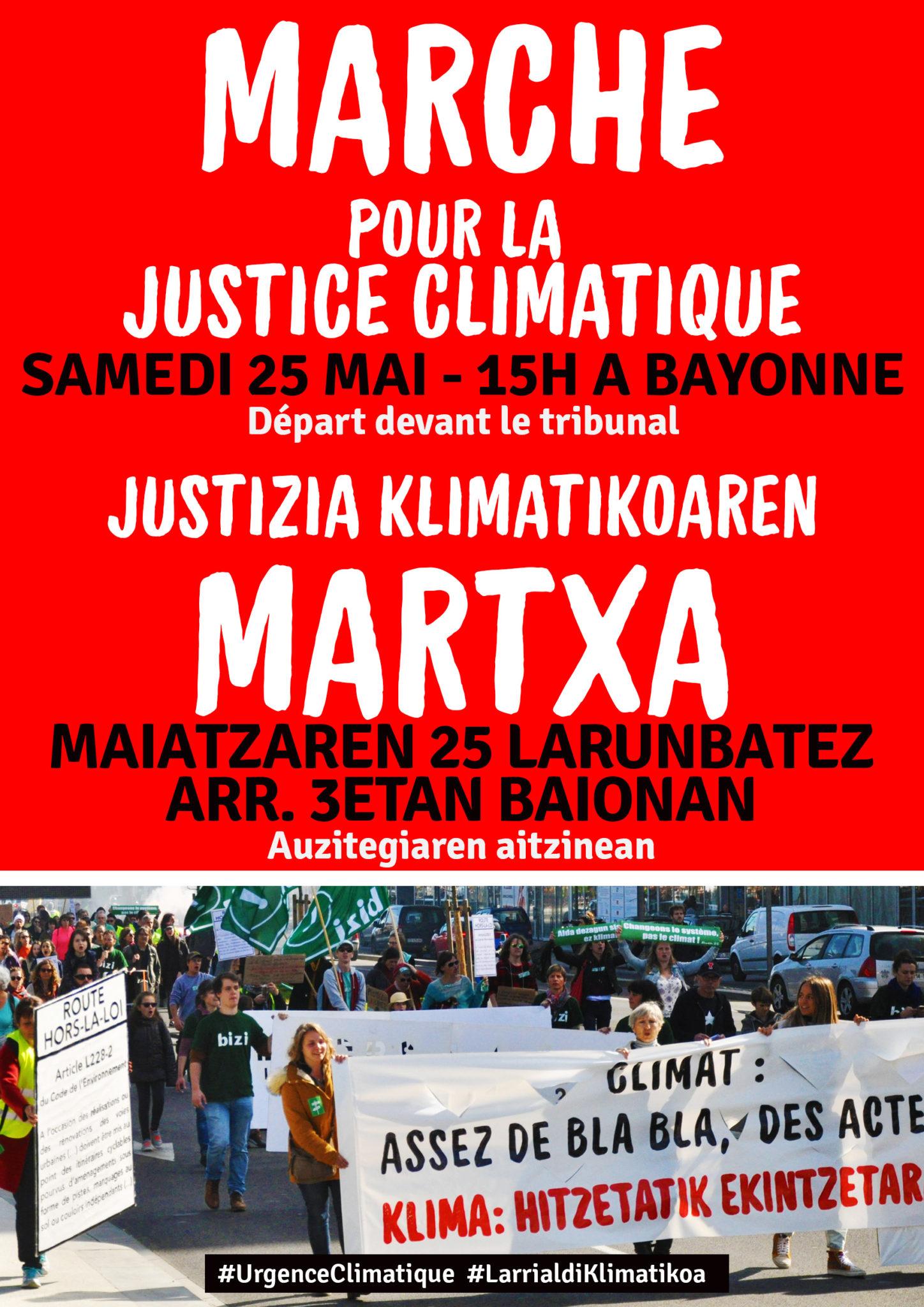 Marche pour la justice climatique Justizia klimatikoaren aldeko martxa